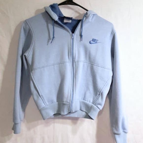 3bf9fec5965d Nike baby blue fleece zip up hoodie small. M 5b1862bdaaa5b81507e44c00